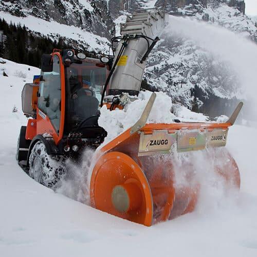 Снегометатель фрезерно-роторный
