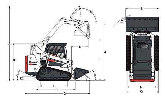 Габариты Bobcat T590