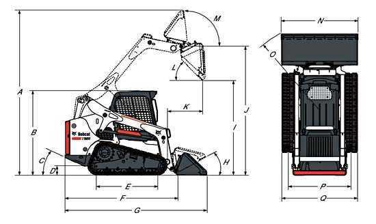 Габариты Bobcat T650