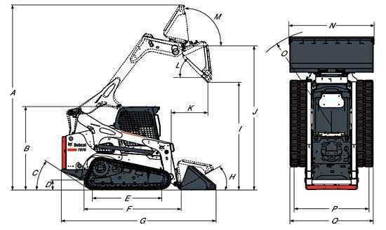 Габариты Bobcat T870