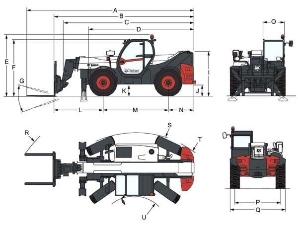 Габариты Bobcat T41.140SLP